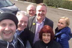 Canvassing in the sunshine